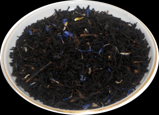 Чай черный HANSA TEA Черника со сливками, 500 г, фольгированный пакет, крупнолистовой ароматизированный чай