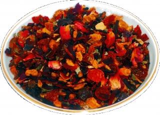 Чай фруктовый HANSA TEA Клубничный пунш, 500 г, фольгированный пакет, крупнолистовой фруктовый чай, купить чай