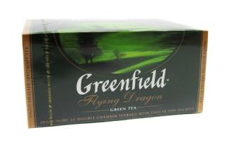 Чай зеленый Greenfield Flying Dragon пакетированный 25 пакетиков в упаковке