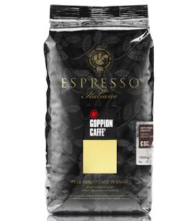 Goppion Espresso italiano CSC (Гоппион Эспрессо Италиано), кофе в зёрнах (1кг), вакуумная упаковка с клапаном