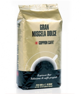 Goppion Gran Miscela Dolce (Гоппион Гран Мискела Дольче), кофе в зёрнах (1кг), вакуумная упаковка с клапаном
