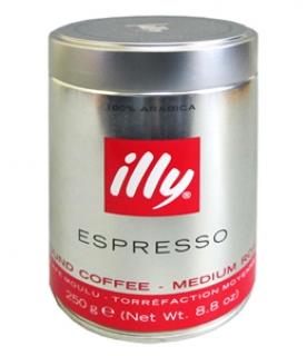 Illy Caffe Espresso, кофе молотый, 250 г., металлическая банка.