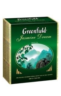 Чай зеленый Greenfield  Жасмин Дрим пакетированный 100 пакетиков в упаковке