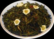 Чай зеленый HANSA TEA Улыбка Гейши, 500 г, фольгированный пакет, крупнолистовой зеленый ароматизированный чай
