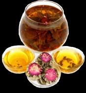 Чай связанный HANSA TEA Персик Дракона Юй Лун Тао, 500 г, фольгированный пакет, крупнолистовой связанный чай, купить чай