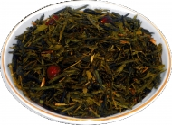 Чай зеленый HANSA TEA Дикая вишня, 500 г, фольгированный пакет, крупнолистовой зеленый ароматизированный чай, купить чай