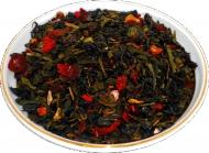 Чай зеленый HANSA TEA Годжи Ассаи, 500 г, фольгированный пакет, крупнолистовой зеленый ароматизированный чай, купить чай