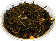 Чай зеленый HANSA TEA Лимон с женьшенем, 500 г, фольгированный пакет, крупнолистовой зеленый  чай, купить чай